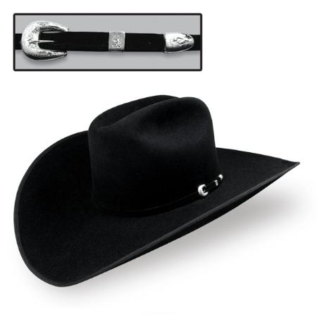 Product# BAP8923 Stetson 4X Felt Hat Liquid Jet Black