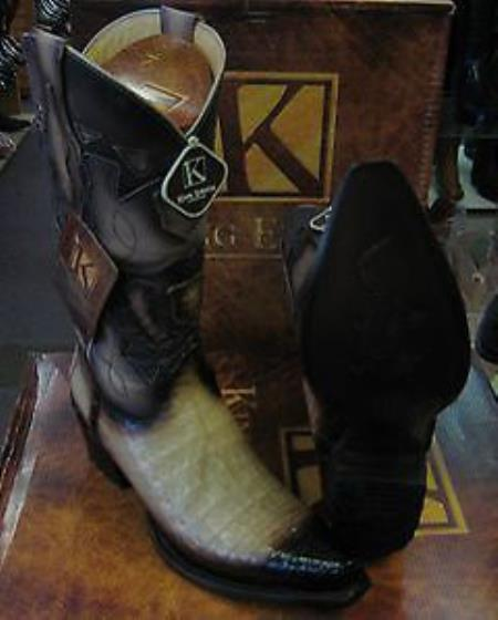 King Exotic Boots Tan