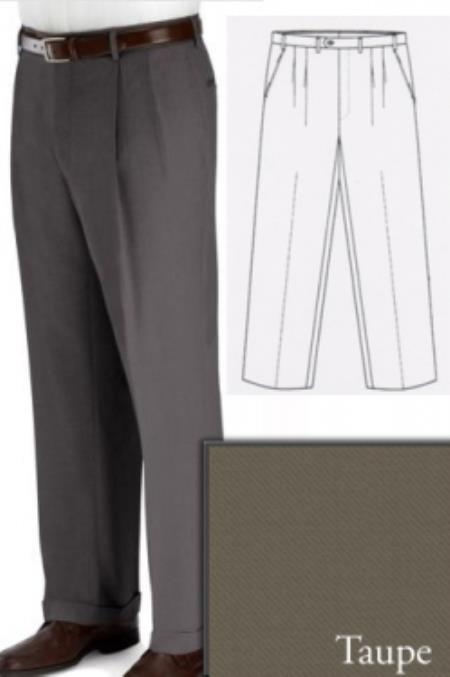 Product# PN90 Big and Tall Dress Pants Slacks For Taupe