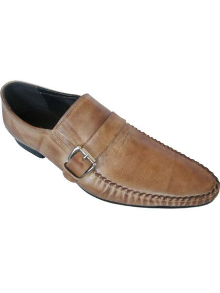 Mens Taupe Side Buckle