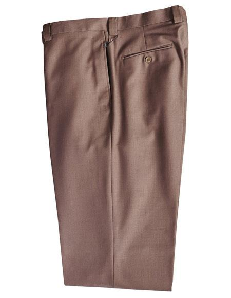 Mens Taupe 100% Wool