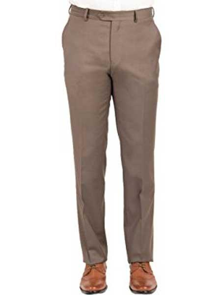 Mens Mantoni Taupe Wool