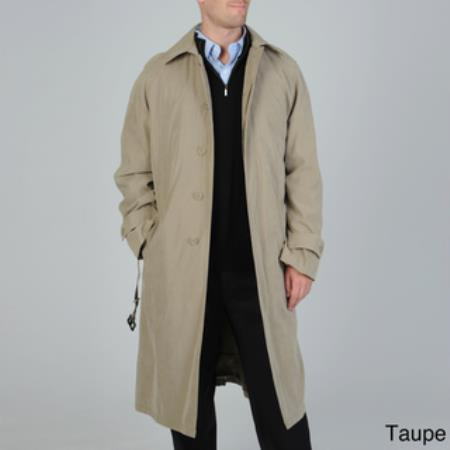 Product# RC-2883 'Renny' Full-length Belted Raincoat Taupe