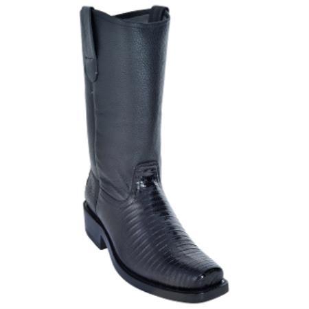 Teju Lizard Biker Boots