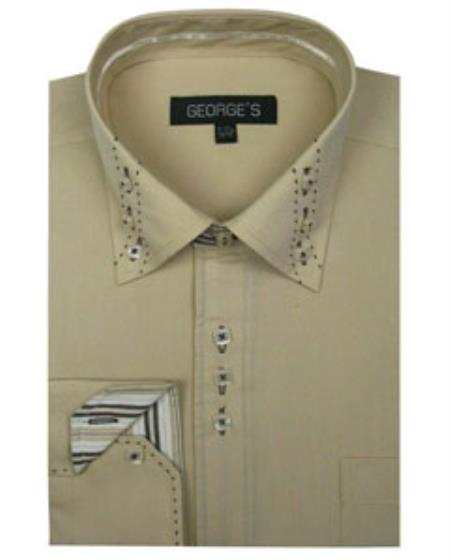 Mens 3 Button Collar