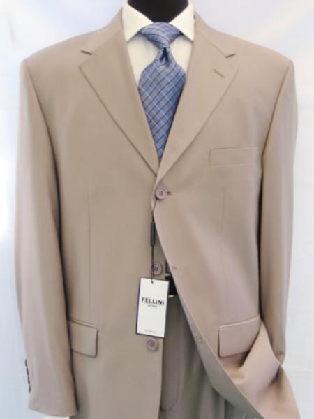 3BW199 Beige/Tan khaki Color ~ Beige Business premier quality italian fabric
