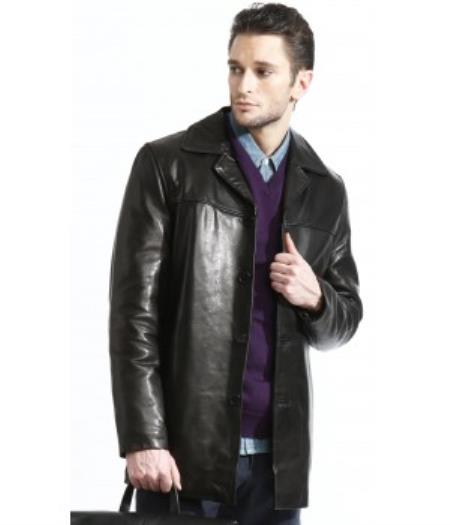 Men's 3 Button 100% Fully Lined Jacket Lambskin Leather Available in Big and Tall Sizes