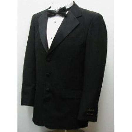 Product# BA579 Buy & Dont pay Tuxedo Rental New Single Breasted Three Button Liquid Jet Black Tuxedo Suit