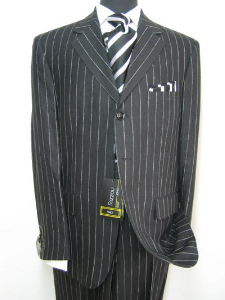 Celebrity Jet Liquid Jet Black Pinstripe Superior Fabric