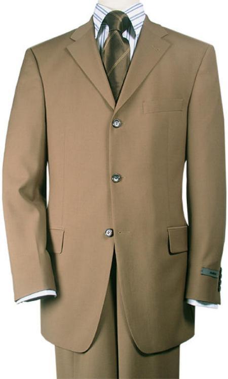 Product#TT43 Mocha~Chestnut~Carmel Premier Quality Italian Fabric Wool Fabric Feel Poly~Rayon Suit Pleated Slacks Pants