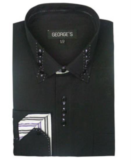 Mens 3 Button Collar