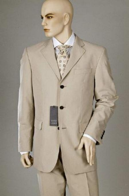 Three Button Tan Color Suit
