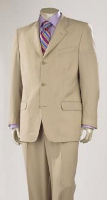 Medium Tan khaki Color ~ Beige Superior Fabric 140's Wool Fabric 3 Buttons Style premier quality italian fabric Design