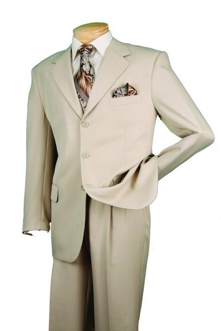 Product# RM29830 Single Breasted 3 Button Style Beige affordable suit Online Sale