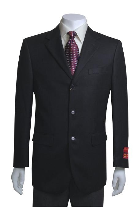Jacket/Blazer Online Sale 3 Button Style Vented in Liquid Jet Black Basketweave