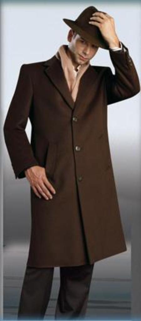 Product# Sentry Chocolate brown color shade Topcoat ~ overcoats outerwear 45\