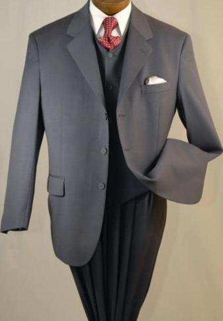 Hand Made Charcoal Wool Suit