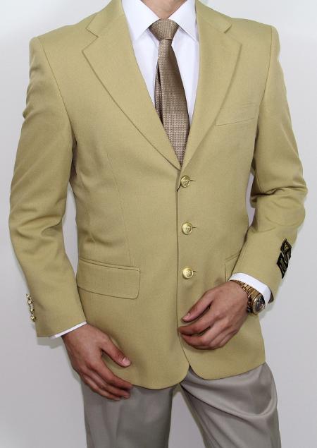 Product# GU4008 3 Button Style Superior Fabric 120's Gold Blazer ~ Suit Jacket Online Sale