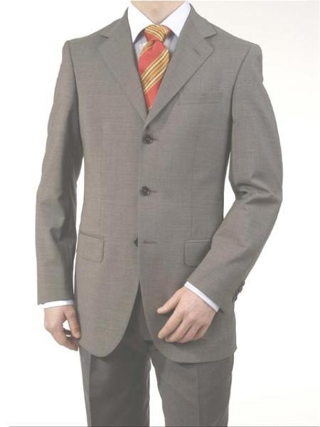 Product# A63_3P Medium Gray Light Gray 3 Buttons Style fully lined On Online Sale