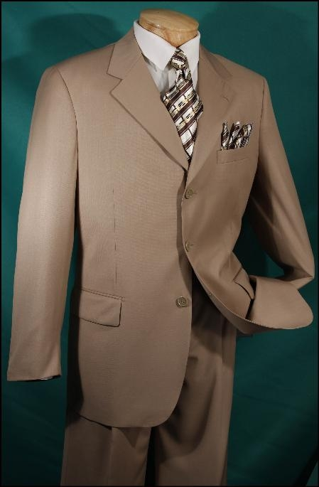 AMS455 JPR-27 CLASSIC DOUBLE BREASTED SOLID COLOR Tan khaki