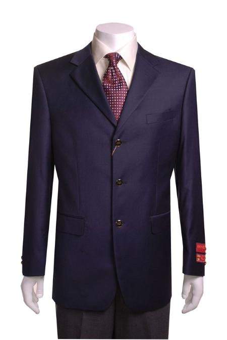 3 Buttons Style Navy