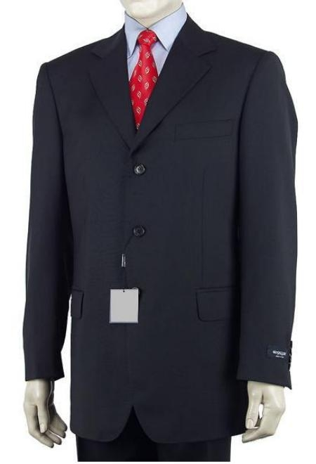 Product# 89L Dark Navy Blue Shade Single Breasted Discount Cheap Dress 3 Button Style Cheap Suit