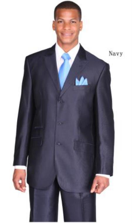 Product# PN_C33 Men's three button style ticket pocket peak lapel suit