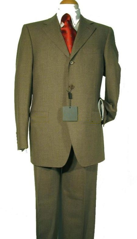 Product# TJ2 Ultimate Wool Fabric&Tailoring Classice Olive Green Suits for Online 3 Buttons Style
