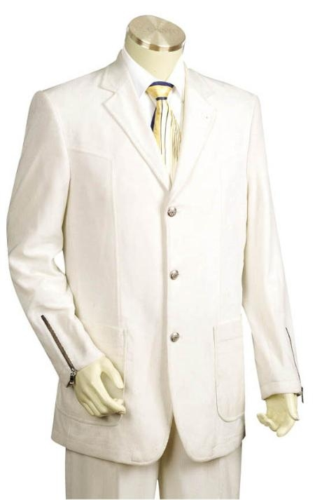 TR5441 3 Button Style Iced Silver Suit