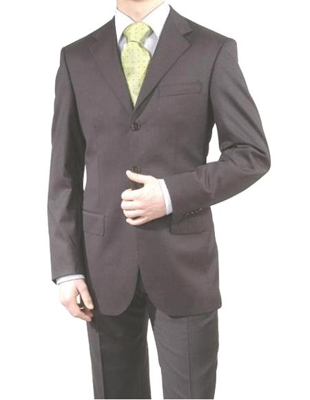 Dark Grey Masculine color Gray/Black -3 Button Style Superior Fabric 150's Wool Fabric & Cashmere Suit