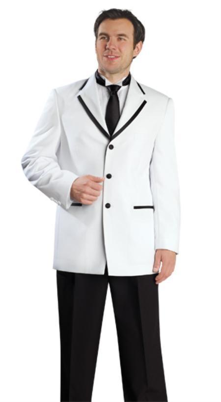 3 Button Style White Suit