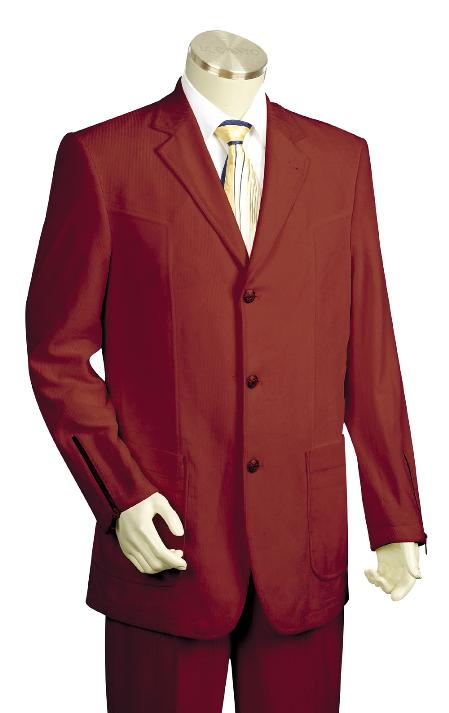Product# KH4500 3 Button Style High Fashion Wine Long length Zoot Suit For sale ~ Pachuco Mens Suit Perfect for Wedding