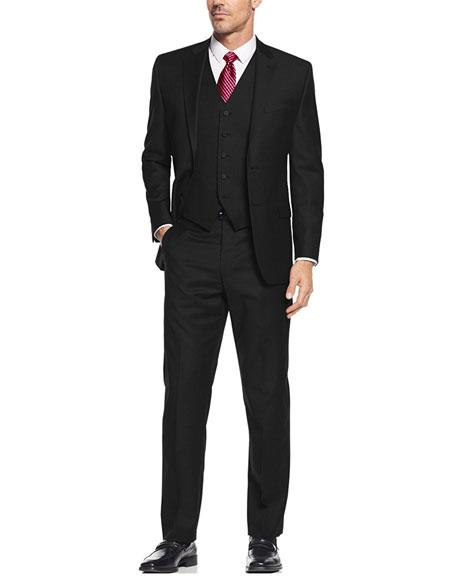 Alberto Nardoni Best men's Italian Suits Brands Black Suit Slim Skinny European fit Vested 3 Pieces Suit Notch Lapel Side Vented