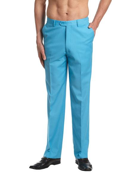 Product# JSM-6859 mens turquoise dress pants