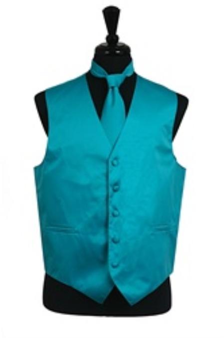 Vest Tie Set turquoise