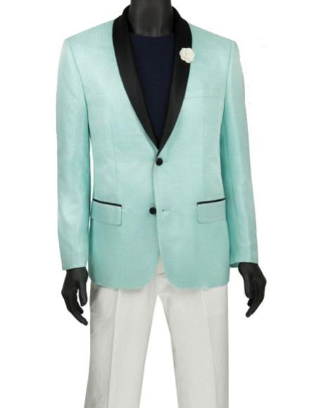 Mens Fashion Aqua Blazer