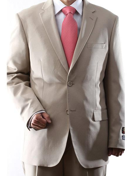 Men's Bolzano 2 Button Dual Side Vents Solid pattern 100% Polyester Suit