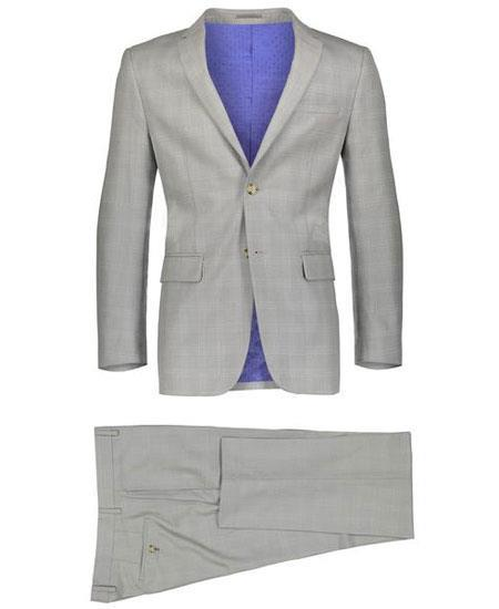Mens Beige Slim Fit