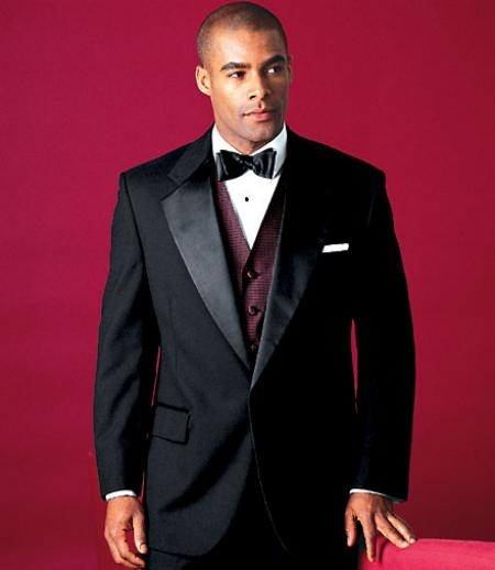Product# MUY724GA 2 Buttons Style Tuxedo 2 Buttons Style formal tux Jacket + Pants Satin Notch Lapel Single Breasted