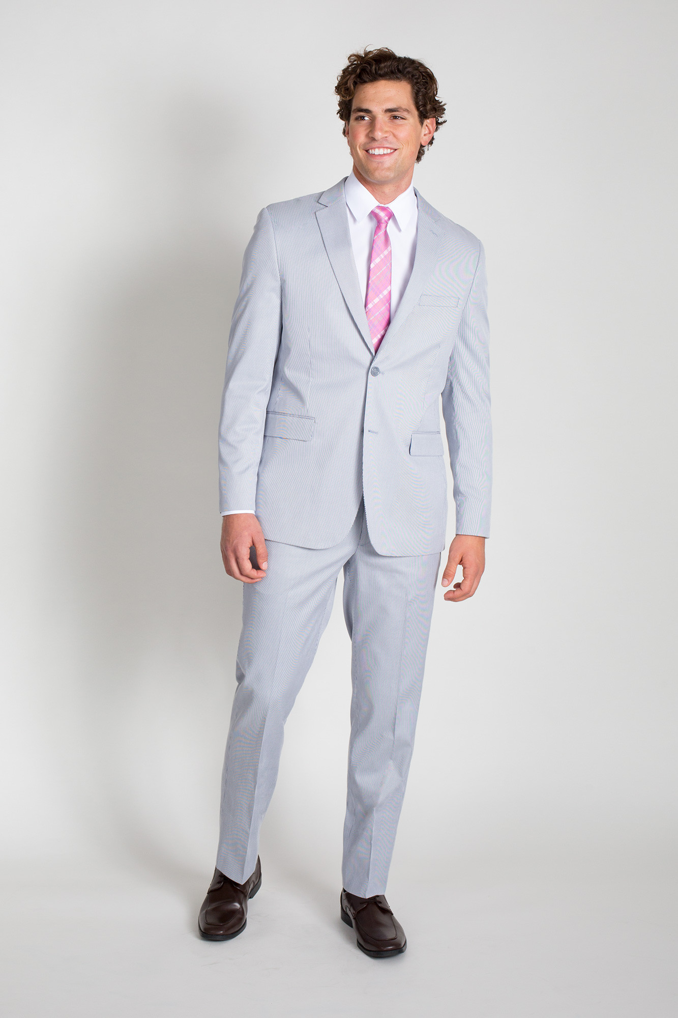 Product# JSM-1480Men's 2 Button Cheap priced Mens Searsucker Seersucker Sale Slim Fit Blue Suit