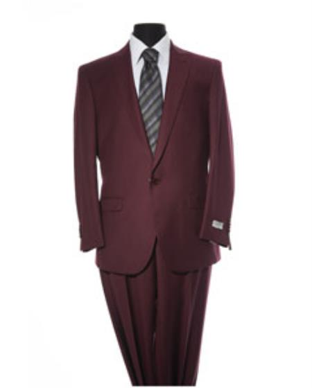 Mens 2 Button Burgundy