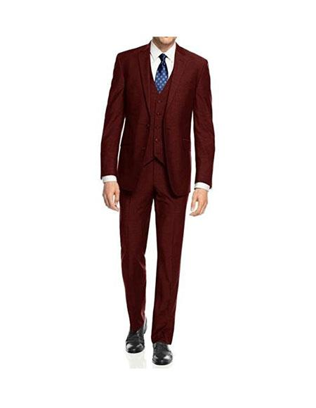 Caravelli Mens 3-Piece Burgundy