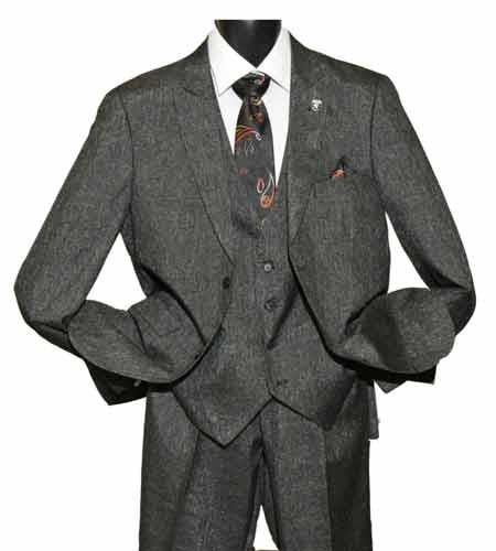 Two Button Charcoal Color Suit