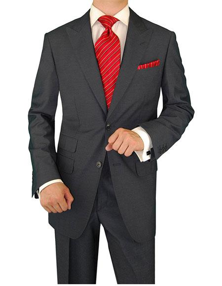 Two Button Charcoal Lining Suit