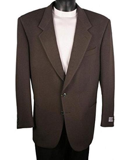 Men's Dark Olive Single Breasted 2 Button Blazer