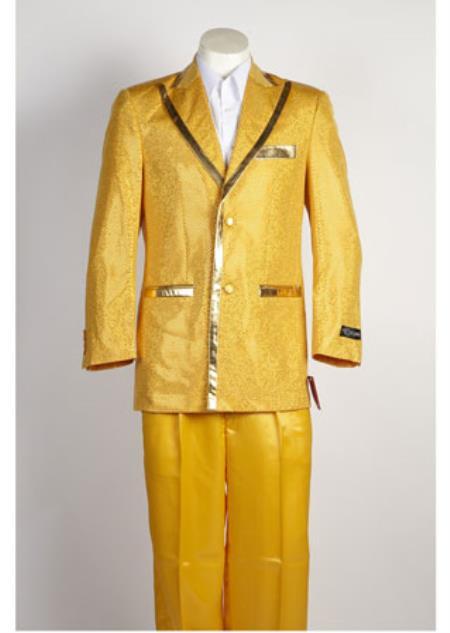 Mens Gold Suit 2 Button