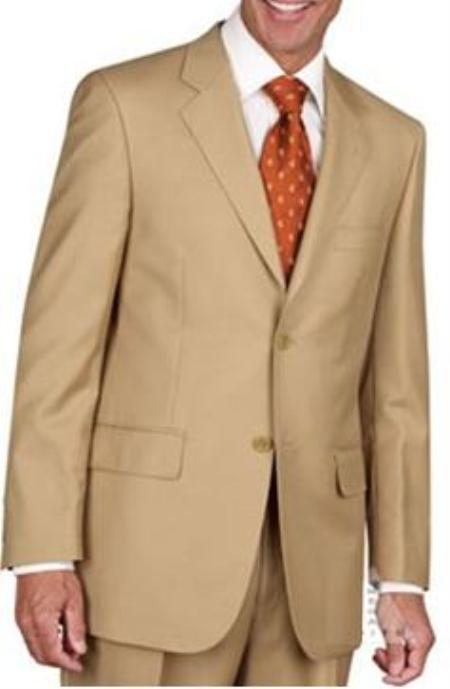 Product# JL1883 Two Button Suit - Gold ~ Camel ~ Bronze ~ Birtish Khaki