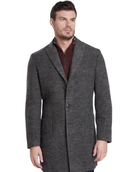 Mens 2 Button Gray