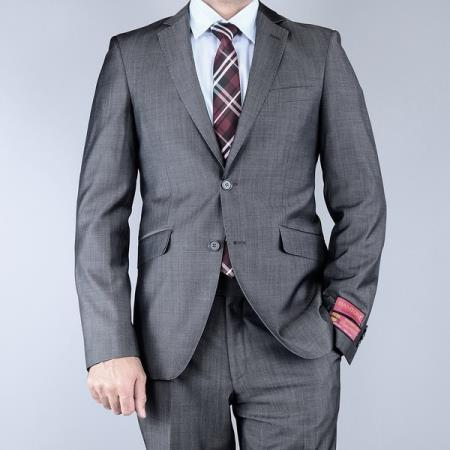 Mantoni Classic Fit Sharkskin