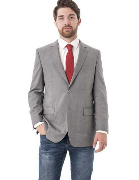 Mens Grey 2 Button